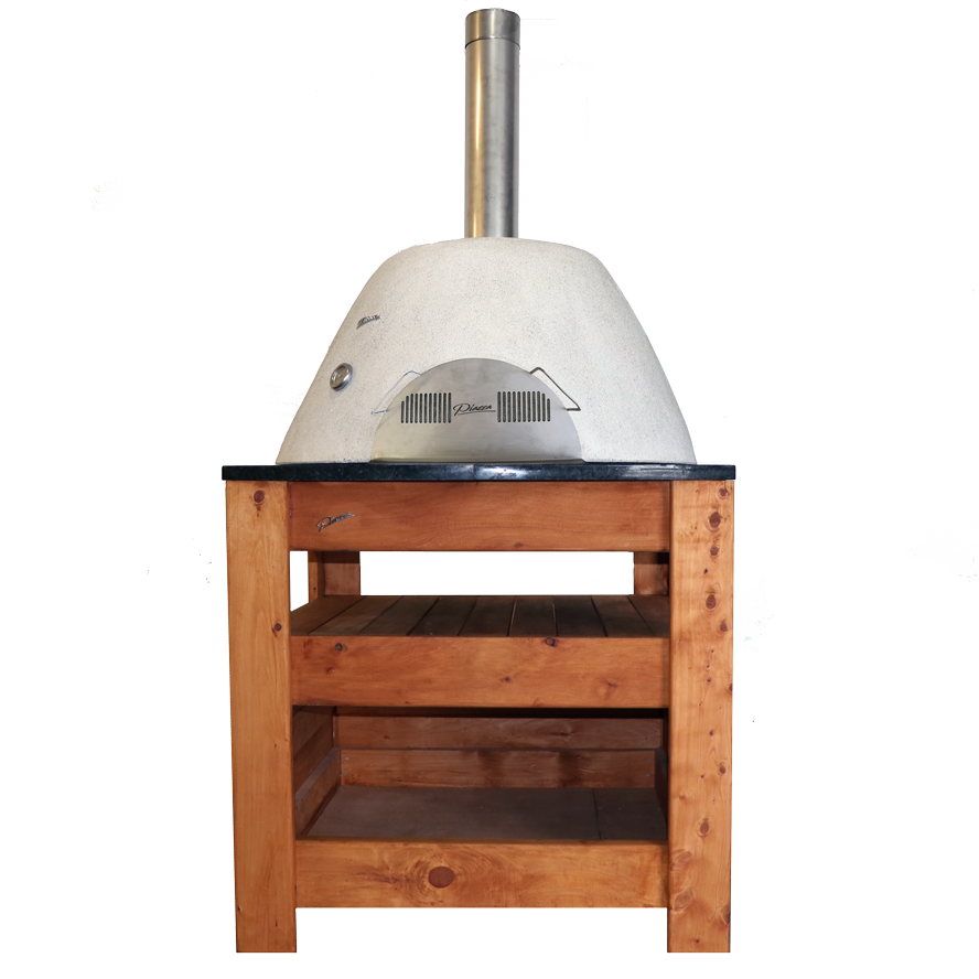 front-view-of-tasman-pizza-oven-on-granite-table